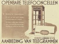 Telefooncel telegram 1938