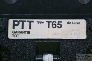 Gewone labeling T65 Zwart