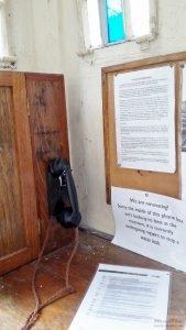 Inside police box telephone