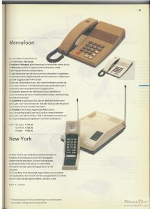 PTT memofoon 1987 catalogus
