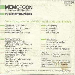 PTT memofoon single achter