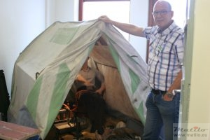 Hans and PTT tent
