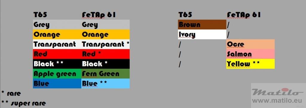 T65 FeTAp61 colours