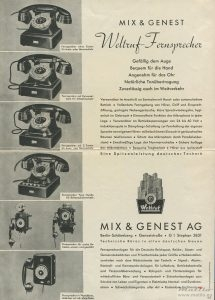 Mix Genest Weltruf advert