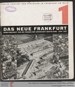 Neue Frankfurt https://digi.ub.uni-heidelberg.de/diglit/neue_frankfurt1926_1927/0001 (C) University Library of Heidelberg