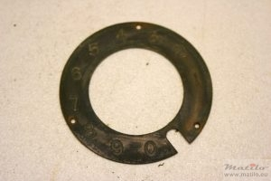 Brass number ring before