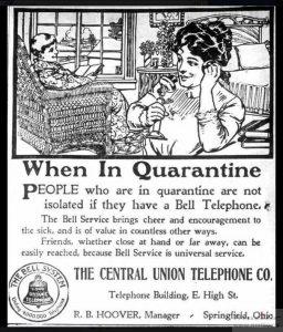 Bell system quarantine advert