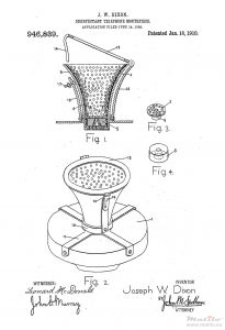 sanitary mouth piece patent 1909