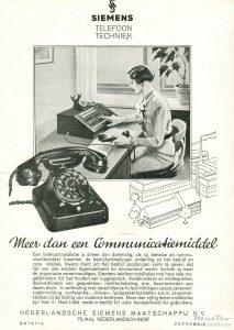 Siemens Halske advert 30ies